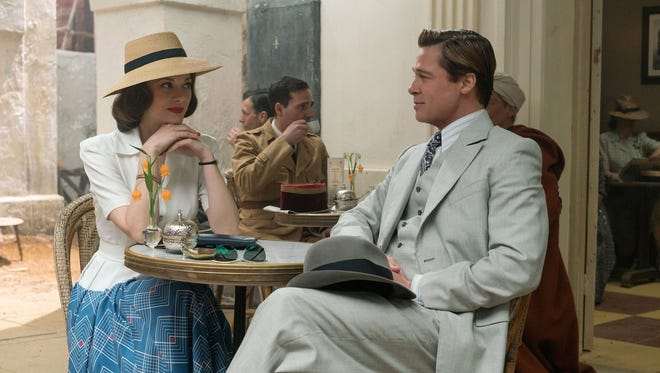 "Brad Pitt plays Max Vatan and Marion Cotillard plays Marianne Beausejour in ""Allied,"" directed by Robert Zemeckis."