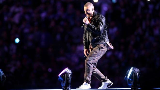 Justin Timberlake performs during halftime in Super Bowl LII between the New England Patriots and the Philadelphia Eagles in Minneapolis.