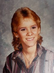 A photo of Lisa Harris from when she was 14 in 1984.