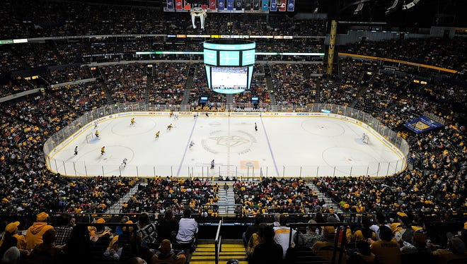 A general view of Bridgestone Arena during a Nov. 16, 2013 game against the Chicago Blackhawks.