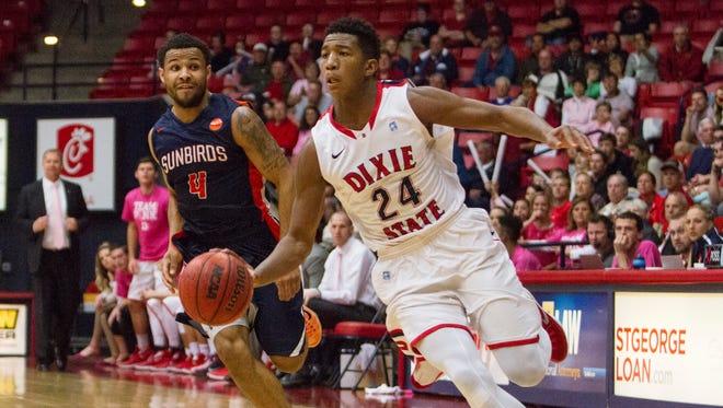 Dixie State basketball takes on Fresno Pacific Saturday, Feb. 13, 2016.
