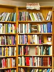 A corner of Green Apple Books in San Francisco.