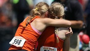 Fischer (left) and Kisting have never missed a state track meet in their time in high school.