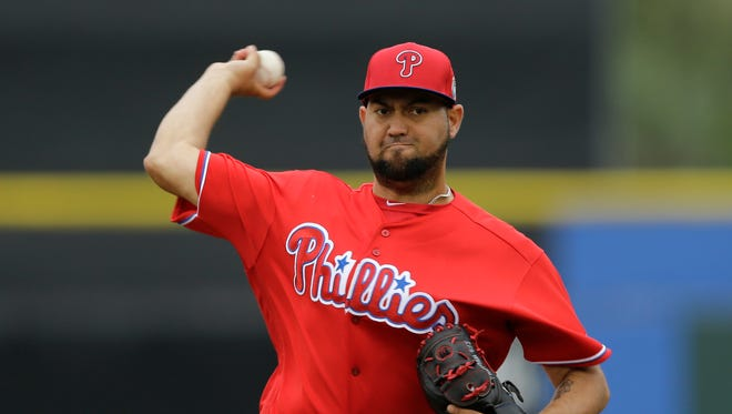 Reliever Edward Mujica pitched in the  Phillies, Royals and Twins organizations last season at the Triple-A level.