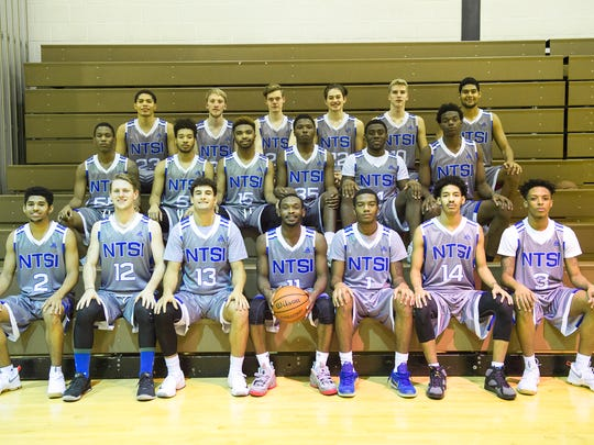 Team photos of National Top Sports Institute basketball team.