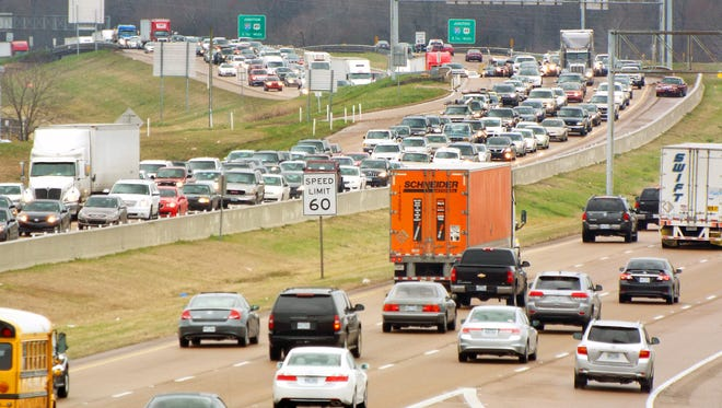 Icy conditions caused several rush hour accidents and major traffic problems Friday morning for I-55 Northbound motorists at Pearl Street in Jackson and other metro areas.