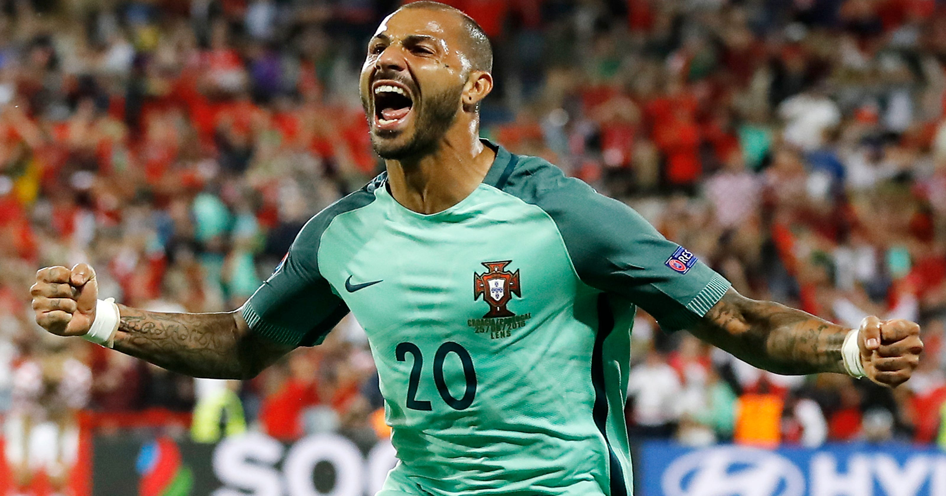 64a9a0e2b88 Portugal beats Croatia with late goal at European Championship