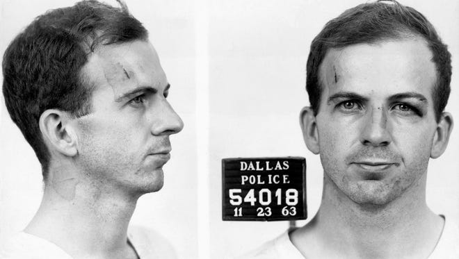 Lee Harvey Oswald's police mug shot from Nov. 22, 1963, the day President John F. Kennedy was assassinated in Dallas.