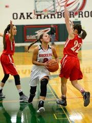 Oak Harbor's Sophia Eli scored 16 points Thursday following a concussion Friday.