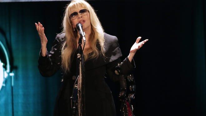 Stevie Nicks performs Wednesday on a stop on her 24 Karat Gold Tour at the Resch Center.