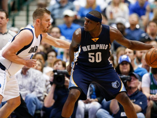 Memphis Grizzlies forward Zach Randolph (50) looks