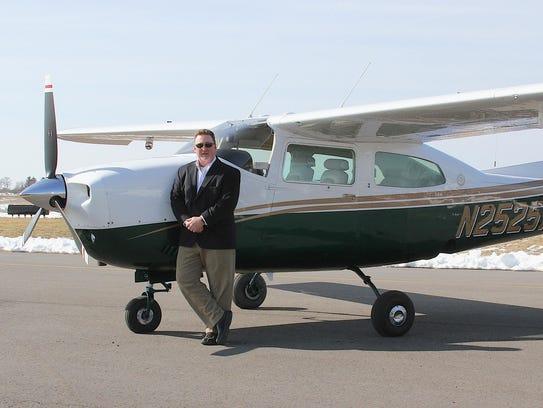 Steve LaCrosse, a manufacturer's rep, flies throughout