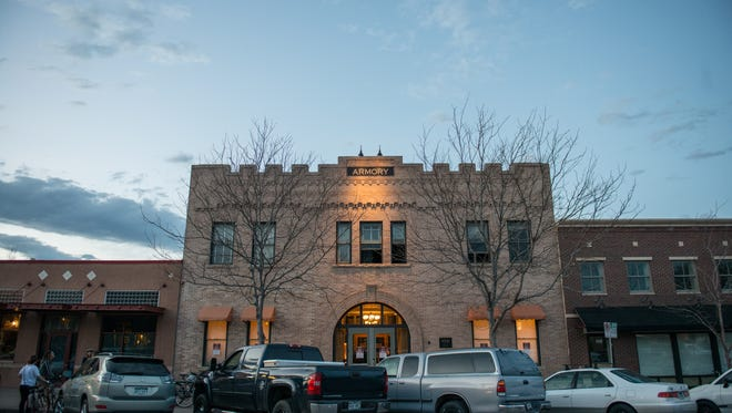 The Fort Collins Armory building at 314 W. Mountain Ave.