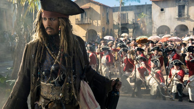 """Johnny Depp portrays Jack Sparrow in a scene from """"Pirates of the Caribbean: Dead Men Tell No Tales."""""""