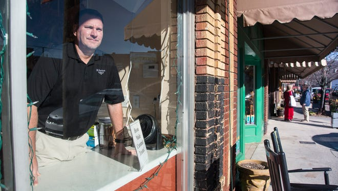 From his window at Kilwin's owner Dave Teske has a clear-eyed view on who's parking in spaces meant for downtown visitors.