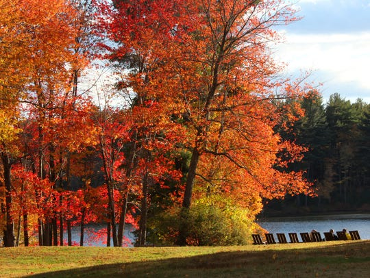 Spectacular fall colors are showcased at Innisfree