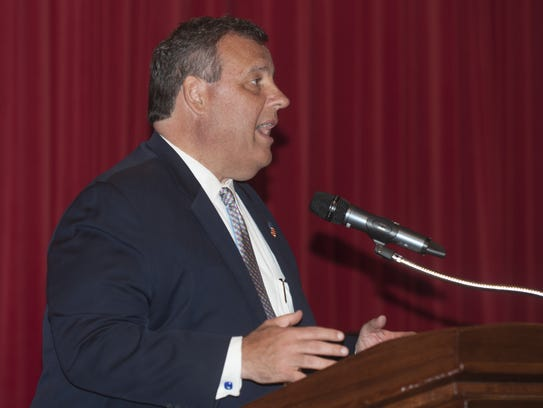 Gov. Chris Christie was a featured speaker at the oath-of-office