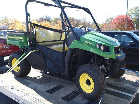 The John Deere ATV given away Nov. 10 by the Rotary