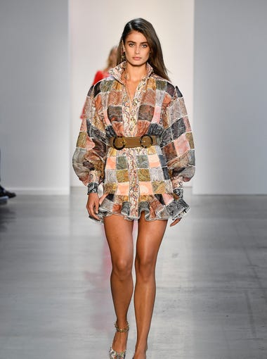 Taylor Hill walks the runway for Zimmermann.