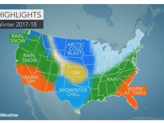 The Accuweather forecast for winter has the Tri-State