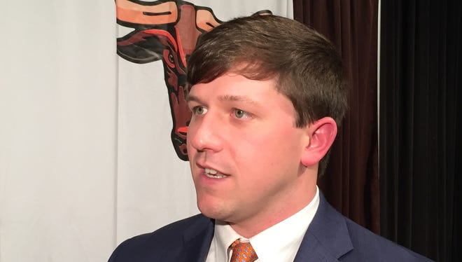 Harry Cabaniss talks about his plans for the Mauldin High School football program Tuesday after being introduced as the Mavericks' new coach.