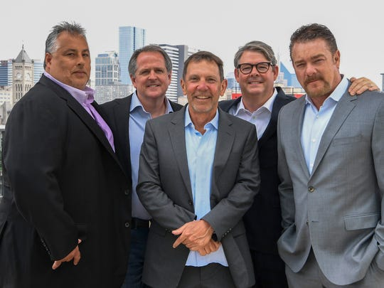 The five co-heads of WME are Joey Lee, Scott Clayton, Greg Oswald, Jay Williams and Rob Beckham.