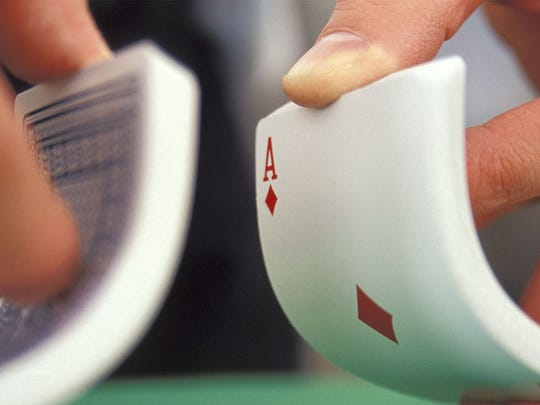 shuffling a deck of cards