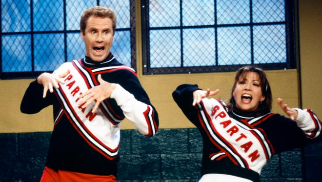 "Will Ferrell portrays Craig Buchanan and Cheri Oteri his cheering partner Arianna on ""Saturday Night Live,"" in New York."