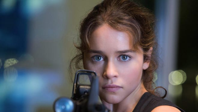 "Emilia Clarke plays the role of Sarah Connor in ""Terminator Genisys""."