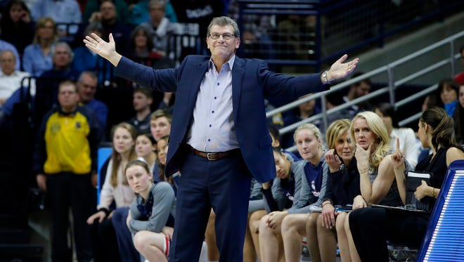 Geno Auriemma and UConn go for their fourth straight NCAA title.