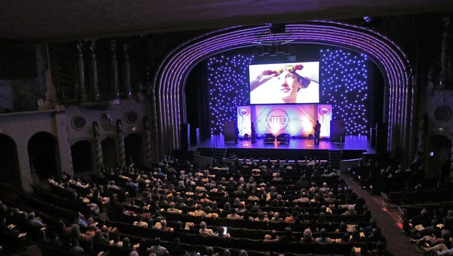 A view of the stage at the Orpheum Theatre during the Arizona Sports Awards, presented by Valley Chevy Dealers, on June 5.