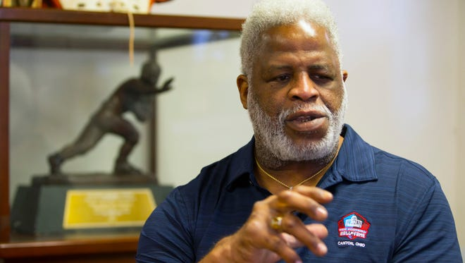 Pro Football Hall of Famer Earl Campbell appreciates what the sport did for him, even with the pain it left in his body.