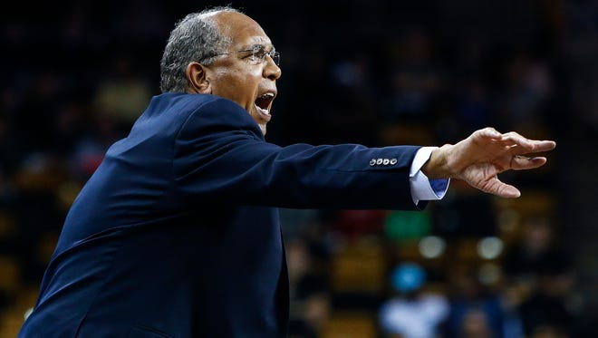 University of Memphis head coach Tubby Smith during first-half action against University of Central Florida in Orlando, Florida.