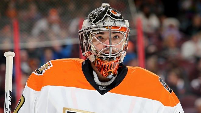 Michal Neuvirth was last in the NHL in save percentage last season.