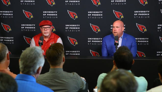 Cardinals coach Bruce Arians and General Manager Steve Keim have to decide to prioritize the quarterback position in this year's draft or the next.