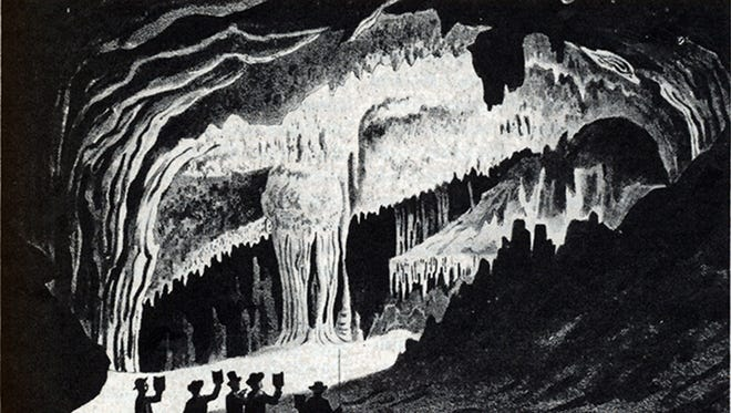 Edward Beyer's depiction of The Cataract in Weyers Cave.
