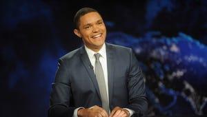 """Trevor Noah hosts Comedy Central's """"The Daily Show with Trevor Noah."""""""