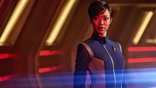 Michael Burnham (Sonequa Martin-Green) is an anthropologist and the first officer of the USS Shenzhou on CBS All Access's 'Star Trek: Discovery.'