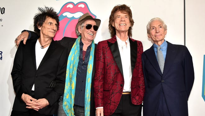 NEW YORK, NY - NOVEMBER 15:  (L-R) Ronnie Wood, Keith Richards, Mick Jagger, and Charlie Watts of The Rolling Stones attend The Rolling Stones celebrate the North American debut of Exhibitionism at Industria in the West Village on November 15, 2016 in New York City.  (Photo by Theo Wargo/Getty Images for The Rolling Stones) *** Local Caption *** Ronnie Wood; Keith Richards; Mick Jagger; Charlie Watts