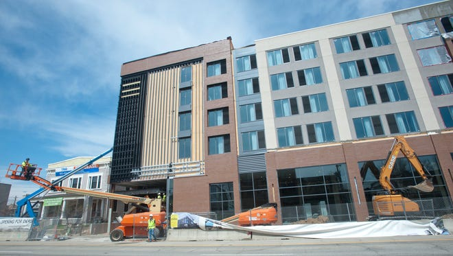 The new AC Hotel Louisville Downtown is set to open on April 30. The property is being developed by The 725 Partners, and Concord Hospitality Enterprises will manage the property, which will operate as an AC Hotel by Marriott brand. Tuesday, April 3, 2018.