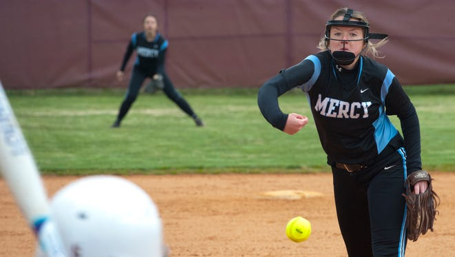 Mercy starting pitcher Lexi Ray and the Jaguars moved onto the Sixth Region finals against Butler with a win over Holy Cross on Tuesday.