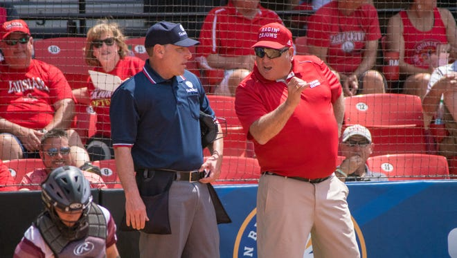UL coach Gerry Glasco said he still hadn't viewed the instant replay of LSU's controversial second run in Sunday's regional finals.