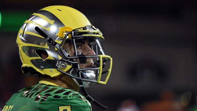 Quarterback Marcus Mariota of the Oregon Ducks.