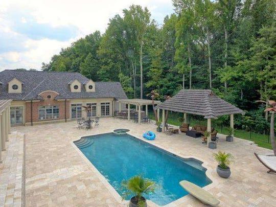 Swimming pool at Jon Runyan's home, Mount Laurel
