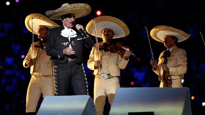 Vicente Fernández, the legendary Mexican balladeer.