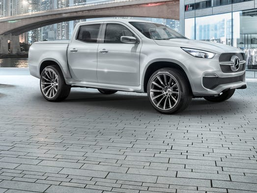 Mercedes benz shows off its first pickup for Mercedes benz pickup truck
