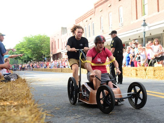 Berlin hosted its 29th Annual Bathtub Races on Saturday, June 23, 2018. Local businesses raced down Main Street in their bathtub racers for a chance at the trophy and year long bragging rights.