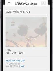 New Go! Calendar for Iowa City Press-Citizen