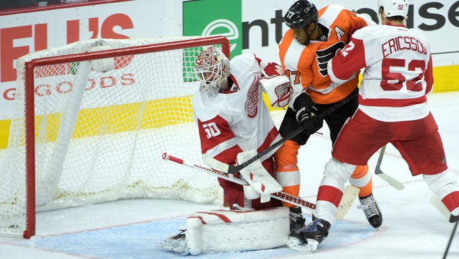 The Flyers beat the Red Wings at home back in October.