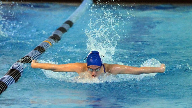 West Henderson's Ava Kilpatrick swims during a swim meet held last year at the Hendersonville Family YMCA.